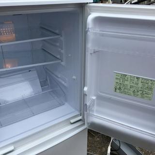【中古品】SHARP シャープ 冷凍冷蔵庫 SJ-14Y-W ※2014年製 - 白井市