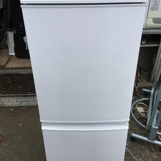 【中古品】SHARP シャープ 冷凍冷蔵庫 SJ-14Y-W ※...