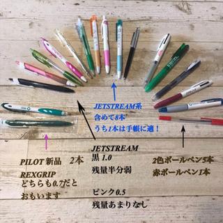 ボールペン18本 うち、2色ボールペン5本