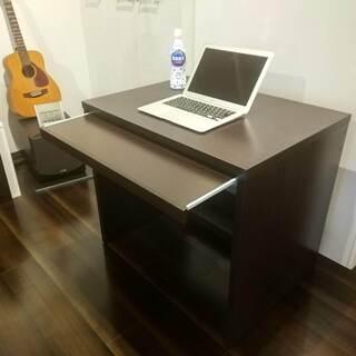 ■小型PCデスク■80cm幅■キーボードスライド付■定価5520...