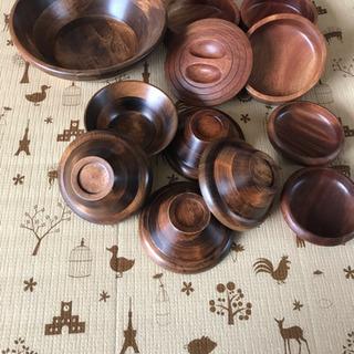 木の食器セット