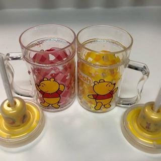 Poohさんストロー付きマグカップ