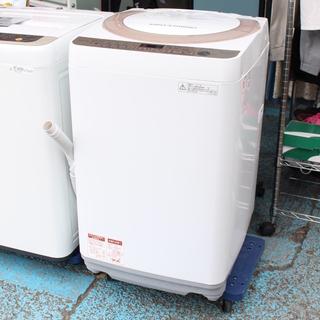 J09214)シャープ SHARP 全自動洗濯機 ES-KS70...
