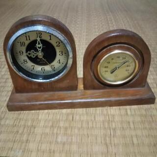 温度計付き置き時計(中古)
