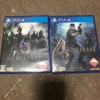 PS4 バイオハザード 4と6