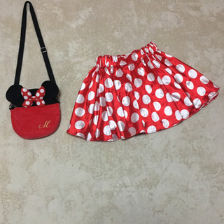 値引き可!ミニーちゃん大人用スカート&ショルダーセット