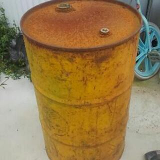 ドラム缶 味のある山吹色 アンティーク品
