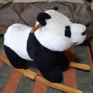 木製ロッキングパンダちゃん