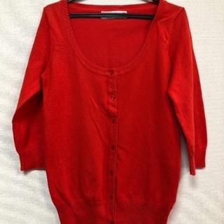 値下げ!ZARAの赤色のカーディガンとセーター
