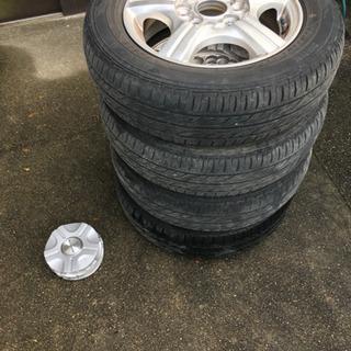 タイヤサイズ 155/65 R13  タイヤ4本セット  ホイー...