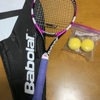 美品 テニスラケット ※ケース、ボール付