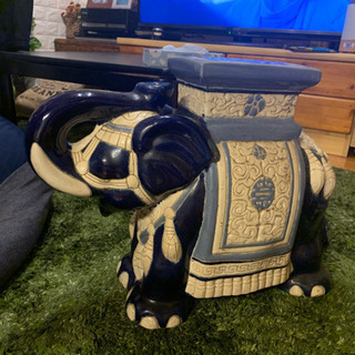 象の置物 陶器製 2つセットです!