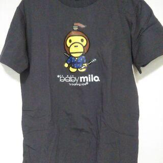 【新品】Tシャツ baby milo Mサイズ 濃グレー