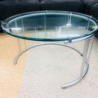 ガラスリビングテーブル 日本フクラ TMRB【トレファク上福岡店】