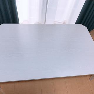ローテーブル 白色木目