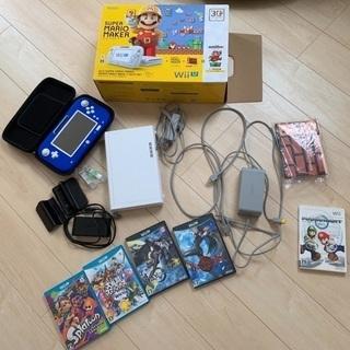 Wii U すぐに遊べるマリオメーカー➕ソフト5本➕ ゲームキュ...