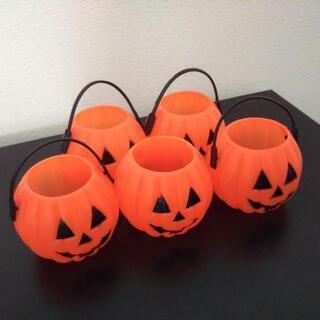 ノーブランド/ハロウィン かぼちゃ ミニバスケット 5セット