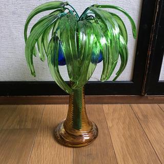 沖縄 琉球ガラス ヤシの木