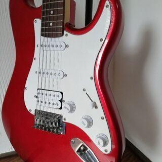 取引中 セルバエレキギター 赤