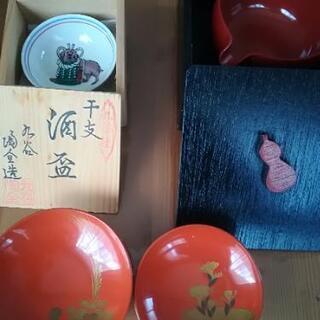 酒器 九谷焼、漆器