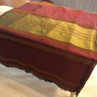 [未使用]シルク手縫い布(ベッド・ソファカバー等に)