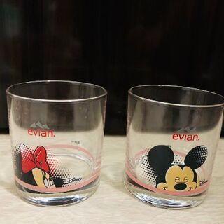 ディズニーガラスコップ2個セット 新品