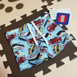 新品未使用 トミカ 水着 男の子 90 スイミングパンツ 水色