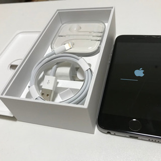 取引先決定しました!△ヒビ有iPhone6s 64G スペースグレー