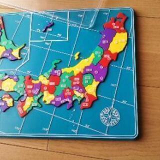 値下げ【日本地図パズル】立体プラスチック製