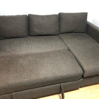 3人掛けソファ、ベッドとしても活用可