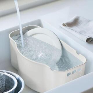 【新品】水が切れるスリム洗い桶[日本製]