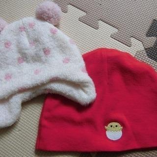 女の子 赤ちゃん帽子セット(投稿管理番号:67)