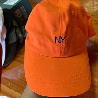キャップ、帽子 オレンジ色