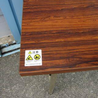 折りたたみテーブル 木目  - 家具