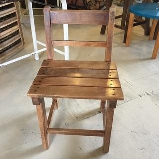 古家具 椅子 イス チェア 木製 家具 茶 オブジェ アンティー...