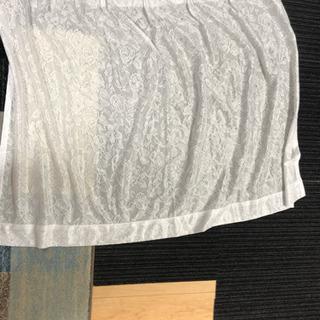 白 レースカーテン