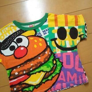 中古バカポテどあっぷTシャツ100緑 110黄JAM