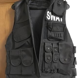 SWAT ベスト、キャップ、グローブ、ガンホルダー