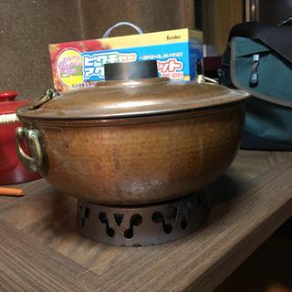 リッチな銅製 しゃぶしゃぶ用鍋 本気のしゃぶしゃぶに