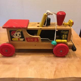 木製 玩具 おもちゃ 昭和のこどもの乗り物 古い遊びもの レトロ