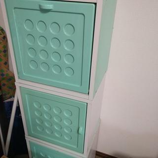 収納 カラーボックス フタ付き 3個セット ★子供部屋