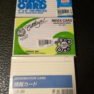 情報カード INDEX CARD