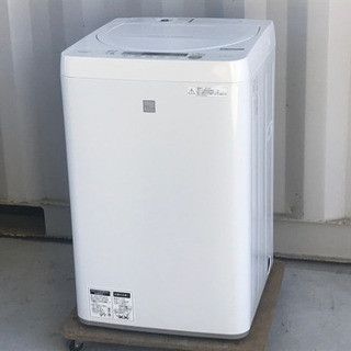 美品!シャープ 洗濯機 4.5kg 18年製◇風乾燥◇ES…