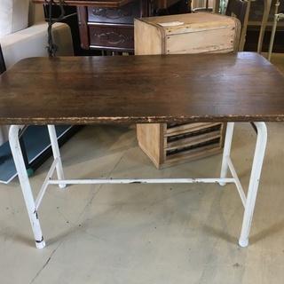 古家具 テーブル 机 木製 家具 茶 オブジェ アンティーク 中古品