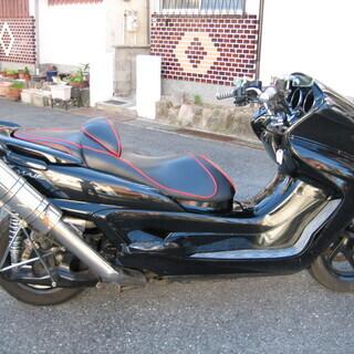 グランドマジェスティ 250 ブラック カチアゲマフラー