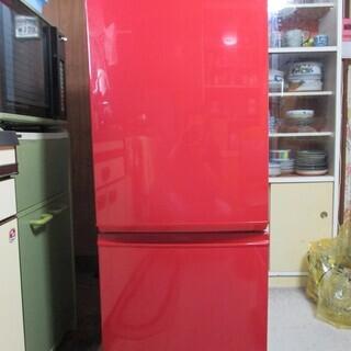 2ドア冷蔵庫 SHARP SJ-17KC (色:レッド)受渡日限...