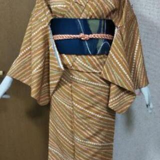 70👘 洗える プレタ 小紋 美品 ★160 68 日本製