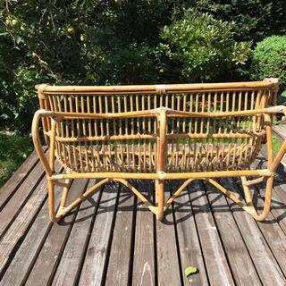 籐製の2人掛け椅子 - 家具