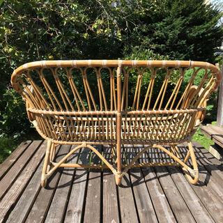 籐製の2人掛け椅子 - 盛岡市