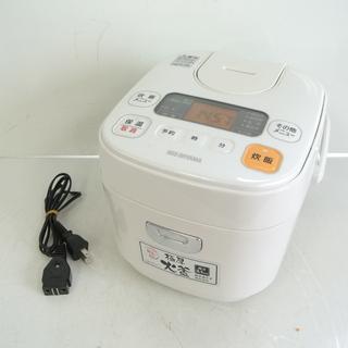 アイリスオオヤマ ジャー炊飯器 3合炊き 2017年製 ホワイト...